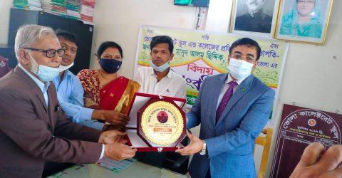 সংবর্ধনায় -মাসুদ আলম সিদ্দিক ভোলা কালেক্টরেট স্কুল হবে বিভাগের শ্রেষ্ঠ বিদ্যালয়